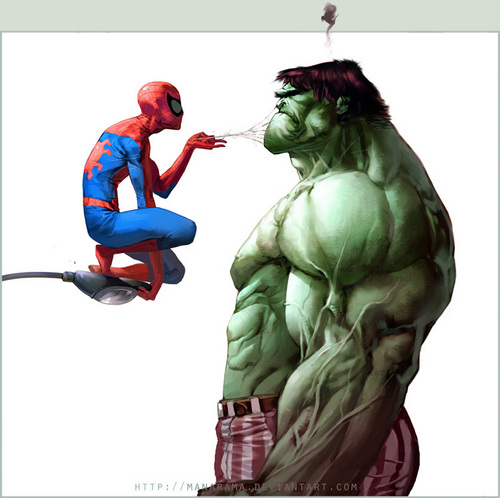 Hulk vs Spiderman