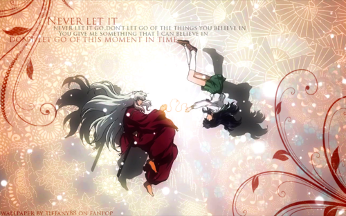 Inuyasha.:The Final Act:. wolpeyper with a bouquet titled Inuyasha and Kagome