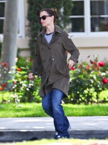 Jen & Ben out & about in Santa Monica 4/13/11