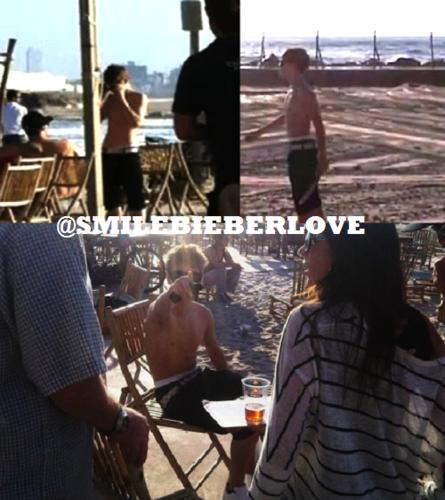 Justin Bieber shirtless in Israel