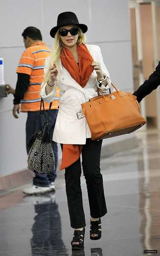 Lindsay Lohan Arriving at JFK Airport