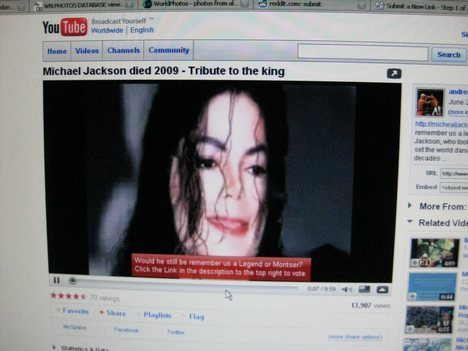 MICHAEL JACKSON ON YOUTUBE!!!