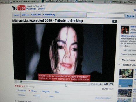 MICHAEL JACKSON ON YOUTUBE!!!