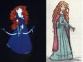 Merida and Ariel Concept Art