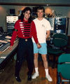 Michael and Brad Sundberg in the studio:) - michael-jackson photo