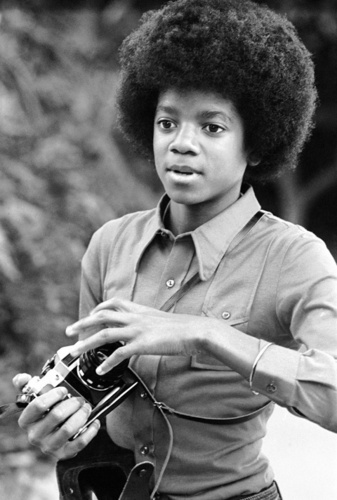 Michael with a camera! <3