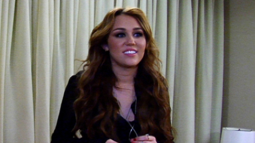 Miley at Oprah Winfrey toon - 13th April 2011