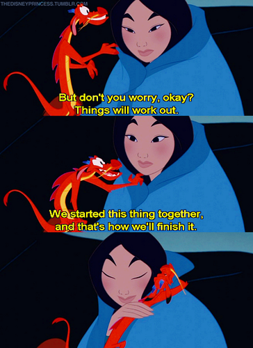 মুলান and Mushu