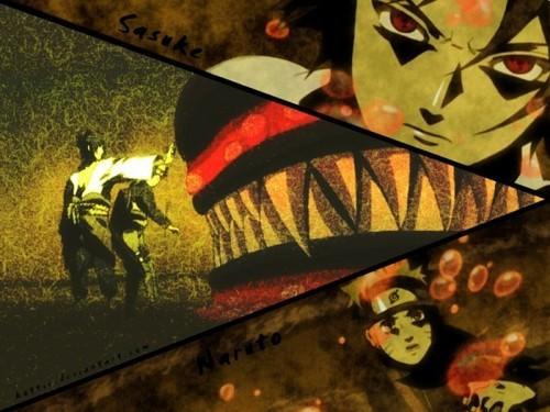 NARUTO -ナルト- , Sasuke and Kyuubi