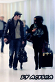 Nikki and Kellan arriving at LAX