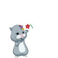 Num nums with a flower - zhu-zhu-pets photo