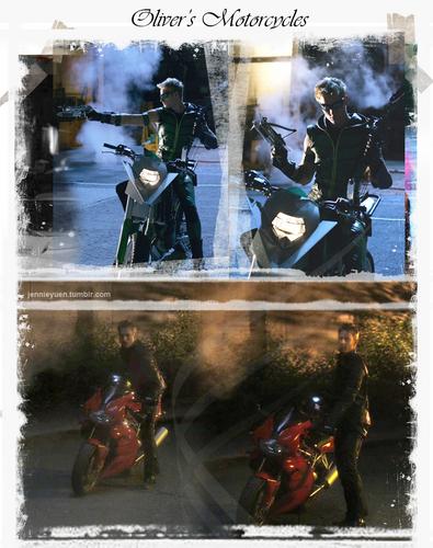 Oliver Queen's motos