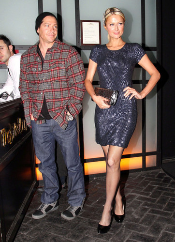 Paris Hilton And Cy Waits On A Night Out In Hollywood
