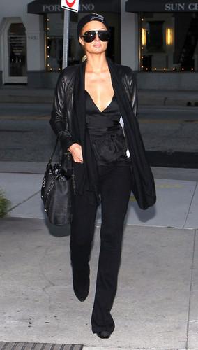 Paris Hilton At The Portofino Sun Center In Beverly Hills