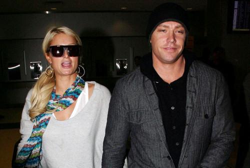 Paris Hilton and Cy Waits at JFK