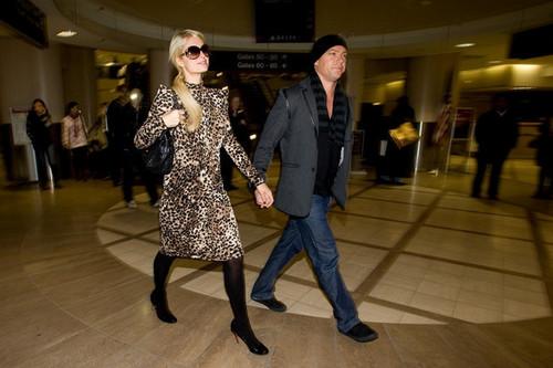 Paris Hilton and Cy Waits at LAX