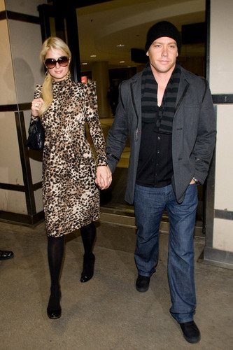 Paris Hilton and Cy Waits at LAX