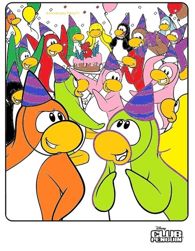 club penguin wallpaper possibly with anime titled penguin coloring page