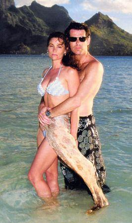 Pierce Brosnan And Keely Shaye Smith.