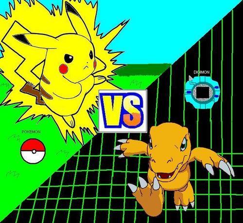 Pikachu vs Agumon