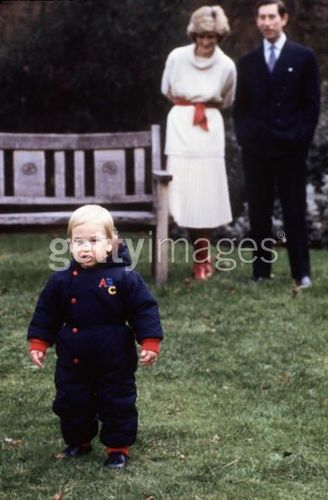Prince William with Diana