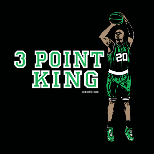 Boston Celtics wallpaper entitled raio, ray Allen 3 point KING