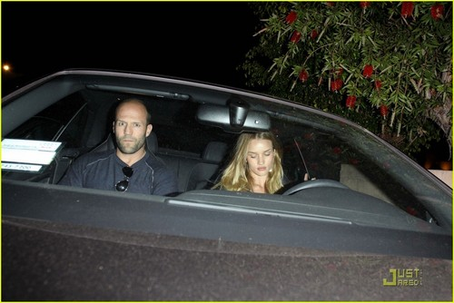 Rosie Huntington-Whiteley Takes Jason Statham for a Drive!
