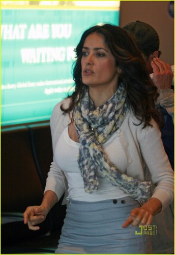 Salma Hayek: 'Here Comes the Boom' in Boston!