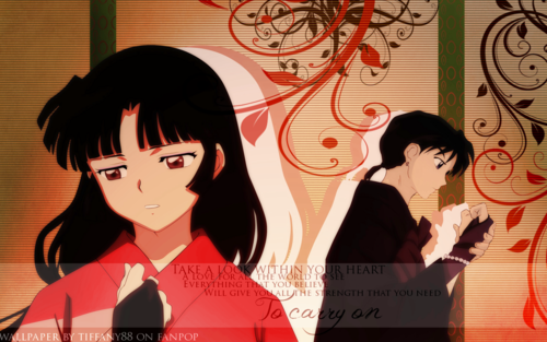 Inuyasha.:The Final Act:. Hintergrund probably with Anime titled Sango and Miroku