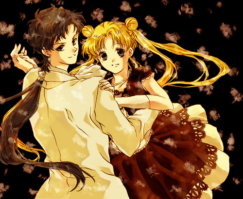 Sailor Moon Sailor Stars fondo de pantalla entitled Seiya and Usagi