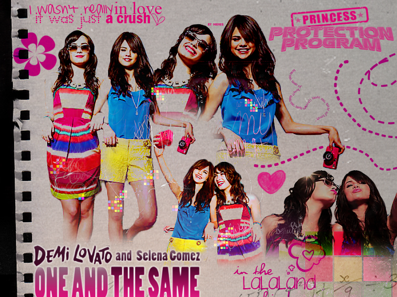 selena gomez and demi lovato wallpaper. Selenaamp;Demi Wallpaper ❤