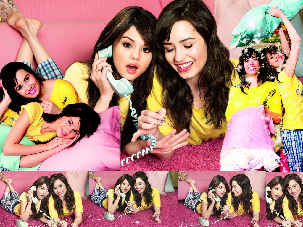 Selena Gomez And Demi Lovato Wallpaper