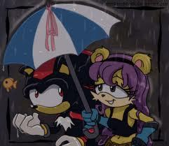 Shadow and Mina in the summer rain