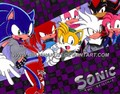 Sonic and friends chillin'