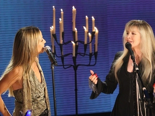 Stevie Nicks and Sheryl corvo