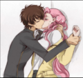 Suzaku Kururugi and Euphemia li Britannia Kiss - code-geass screencap