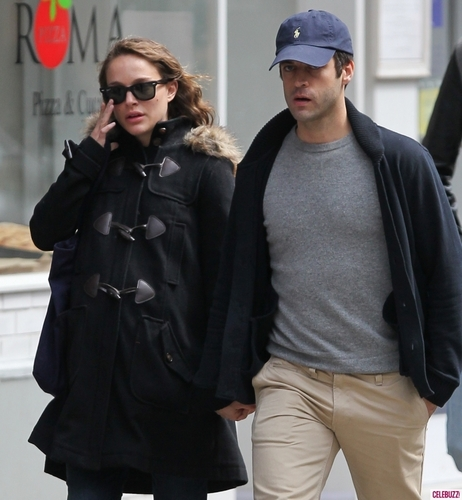 Taking a stroll with Benjamin Millepied around the neighborhood, New York City (April 15th 2011)