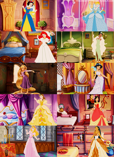 The princesses in their rooms