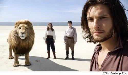 aslan,edmund,lucy & caspian