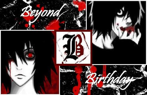 Beyond Birthday wallpaper containing anime titled bb another note