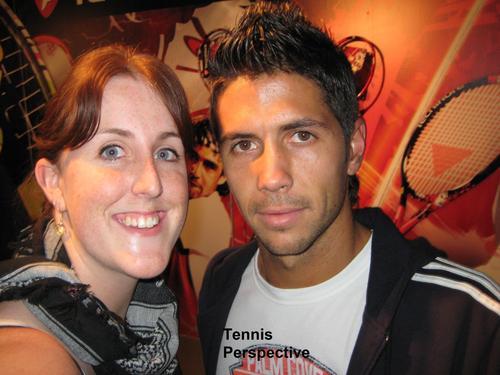 girl with a big chin and Fernando Verdasco