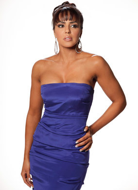 WWE LAYLA wallpaper probably with a dinner dress, a cocktail dress, and a strapless entitled layla