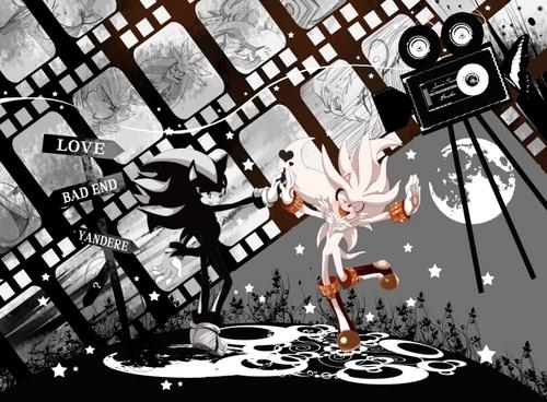 Sonic Shipping.... karatasi la kupamba ukuta called .:Silver x Mephiles:.