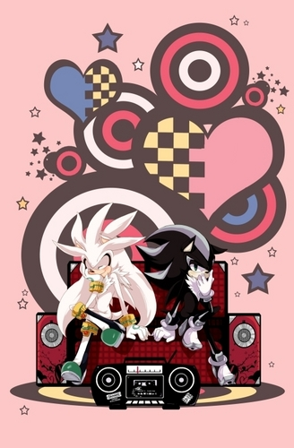 Sonic Shipping.... karatasi la kupamba ukuta probably with anime called .:Silver x Mephiles:.