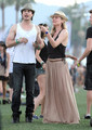 At 2011 Coachella Music Festival with Diane