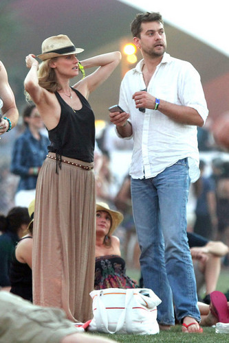At 2011 Coachella musik Festival with Diane