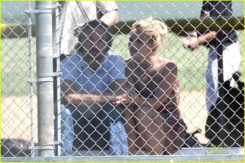 Britney Spears: Baseball Game with Jason Trawick!