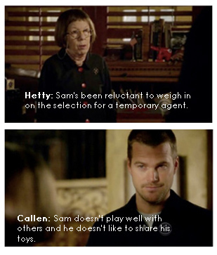 NCIS: Los Angeles wallpaper entitled Callen and Hetty-quote
