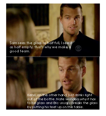 NCIS: Los Angeles 壁纸 probably with a portrait called Callen and Hetty-quote