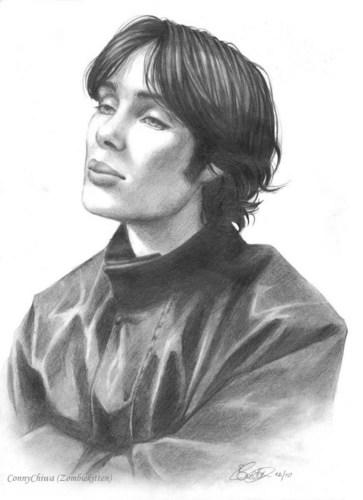 Cillian Murphy portrait drawing